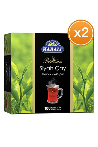 Karali Premium Bardak Poşet Siyah Çay 100'lü X 2 Adet
