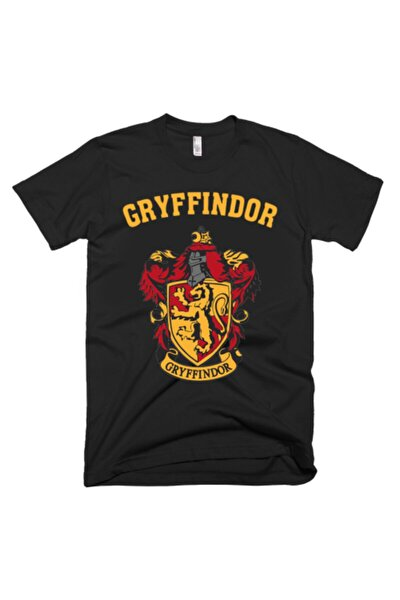 Harry Potter Gryffindor Tshirt Siyah Unisex