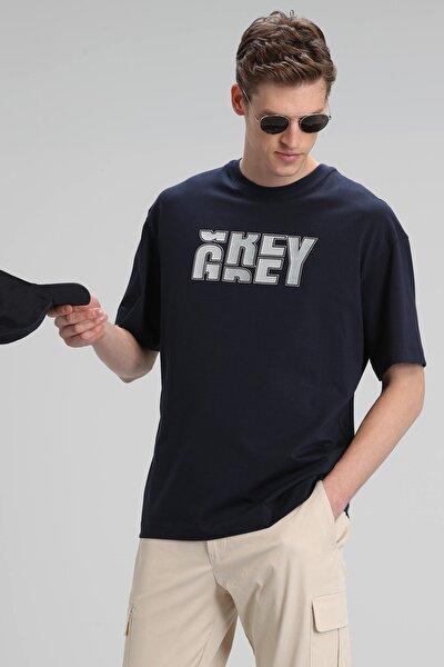 Bonn Modern Grafik T- Shirt Lacivert
