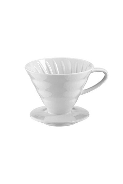 V60 02 Beyaz Kahve Demleme Aparatı Seramik