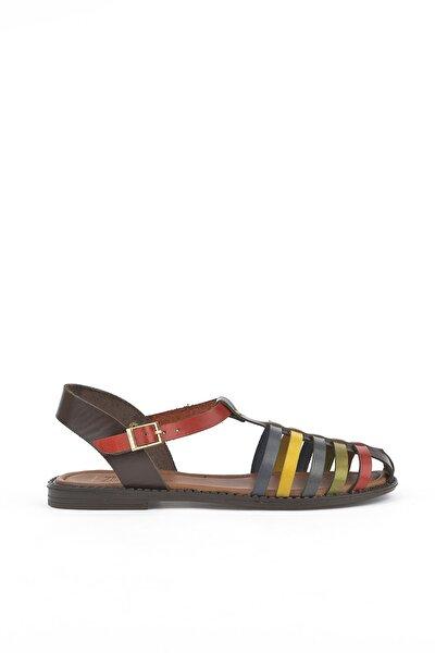 Kadın Kahverengi Hakiki Deri Sandalet 111354 190