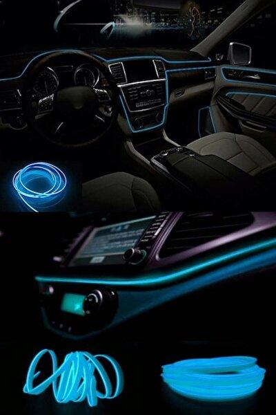 Araç Içi Buz Mavisi Torpido Ledi - Ip Neon Led - 5 Metre Buz Mavi