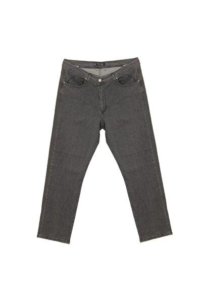 Erkek Gri Full Likralı Jeans