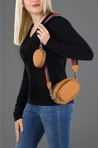 Kadın Renkli Kolon Askılı Cüzdanlı Çapraz Çanta