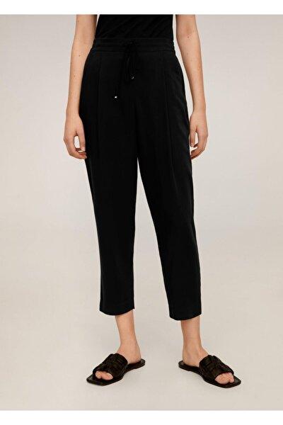 Kadın Siyah Bağcıklı Takım Pantolon 67056705