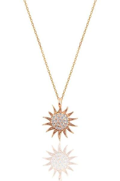 Gümüş Rose Güneş Kolye