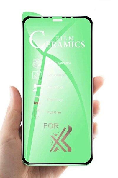 Iphone 11 Nano Film Koruyucu Flexible Cam 9d Kırılmaz Fiber ( Siyah )
