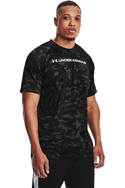 Erkek Spor T-Shirt - UA TECH ABC CAMO SS - 1361698-012