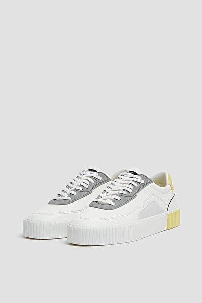 Erkek Beyaz Casual Kontrast Spor Ayakkabı 12225740