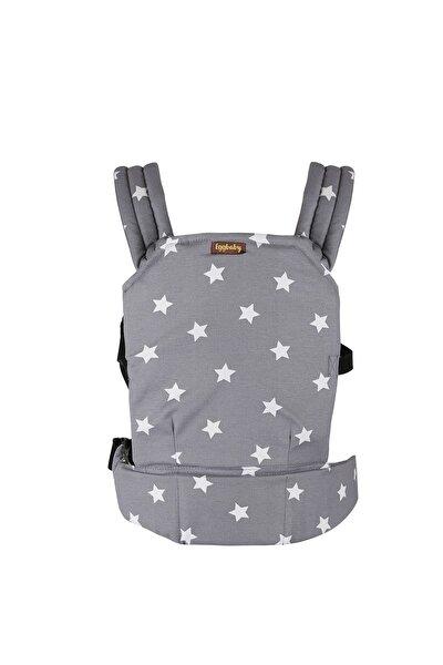 Ergonomik Kanguru Bebek Taşıma Gri Yıldız Desenli