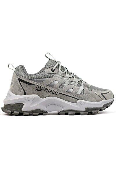 Erkek Gri Spor Sneaker Ayakkabı 25837