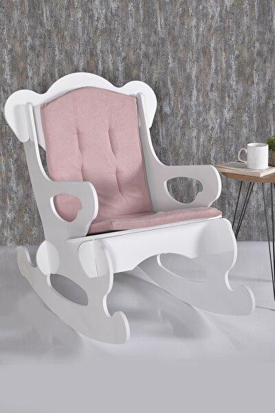 Pembe Sallanan Sandalye Yetişkin Tv Keyfim Dinlenme Koltuğu