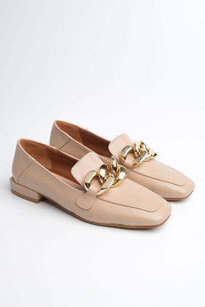 Kadın Bej Loafer Ayakkabı Modena