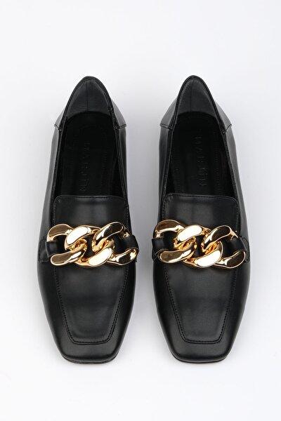 Kadın Siyah Loafer Ayakkabı Modena