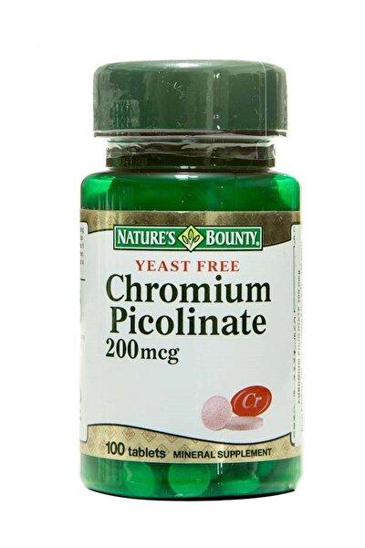 - Chromium Picolinate 200 Mcg 100 Tablet 074312063909