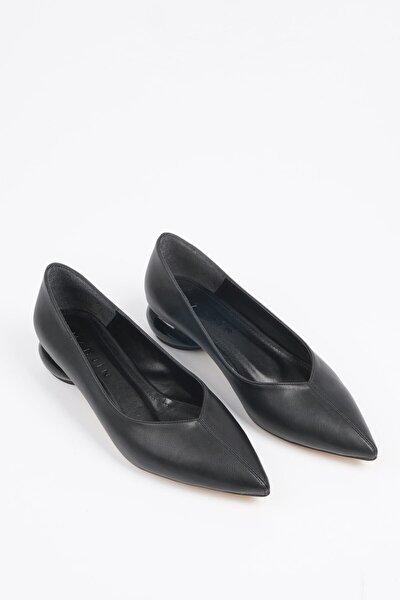 Kadın Siyah Günlük Klasik Topuklu Ayakkabı Evara