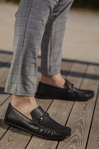 Erkek Siyah Günlük Ortopedik Loafer Ayakkabı