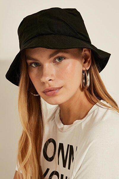 Kadın Siyah Bucket Şapka 13372
