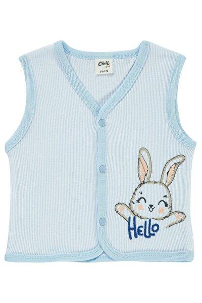 Erkek Bebek Mavi Yelek
