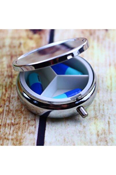 Nostaljik Gümüş Metal Ilaç Kutusu Hap Saklama Kabı Çok Amaçlı Organizatör