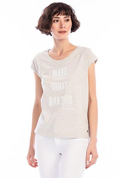 Kadın T-shirt Açık Gri