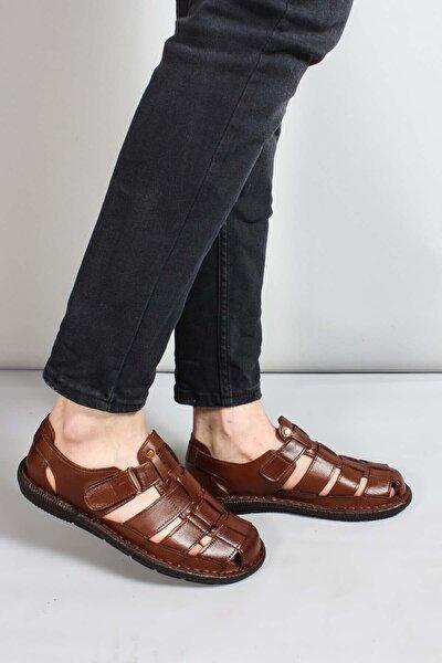 Erkek Kahverengi Sandalet