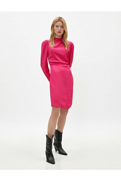 Kadın Pembe Uzun Kollu Elbise