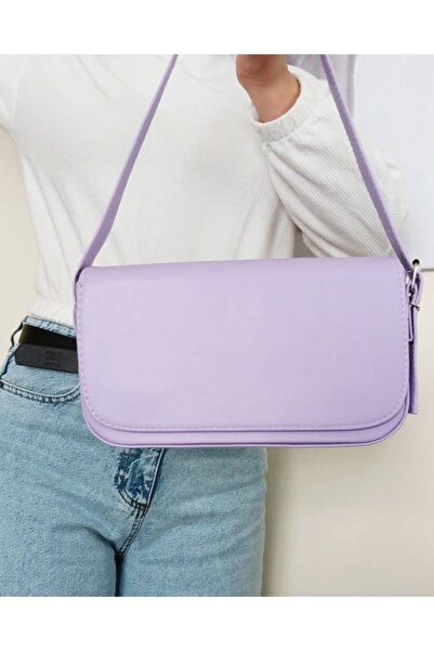 Lila Kapaklı Baget Çanta