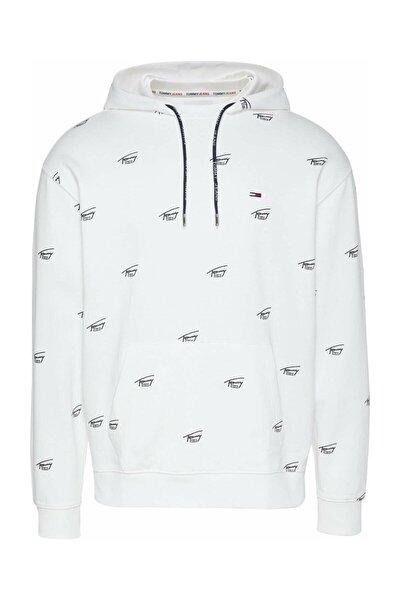 Erkek Beyaz Sweatshirt Tjm Crıtter Hoodıe DM0DM09517