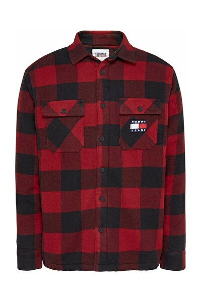 Erkek Kırmızı Gömlek Tjm Sherpa Flannel Overshırt DM0DM09394