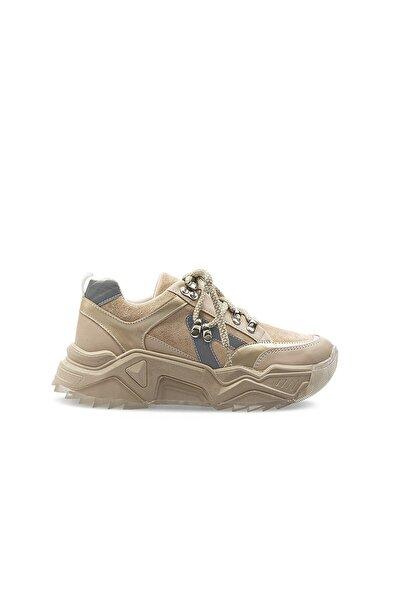 PC-30694 Bej Kadın Spor Ayakkabı