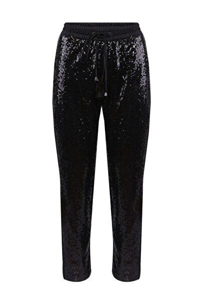 Kadın Siyah Pullu Pantolon