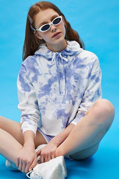 Kadın Lila Desenli Sweatshirt 1YAL68329IK