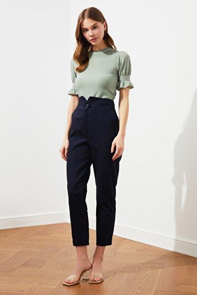 Lacivert Bel Detaylı Pantolon TWOSS21PL0388