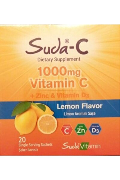 Suda Vitamin C 1000 Mg + Zinc Ve Vitamin D3 20 Saşe Limon
