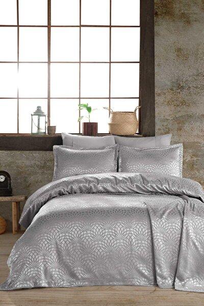 Yatak Örtüsü Garden Gümüş Çift Kişilik