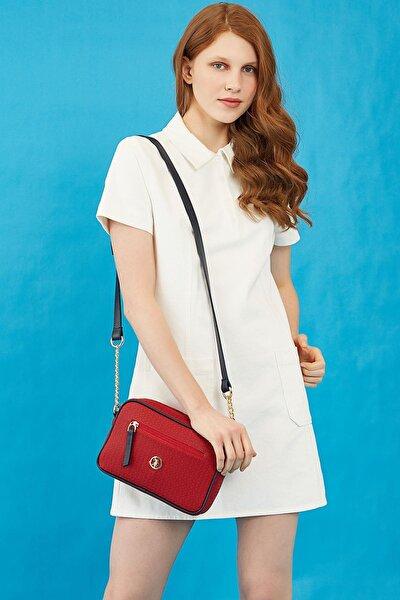 Kadın Kırmızı Çapraz Çanta