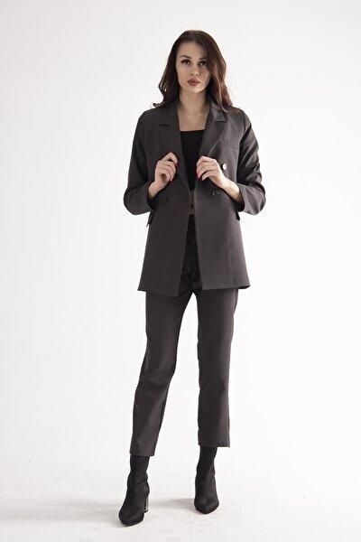 Kadın Gri Ceket Pantolon Takım 0106306