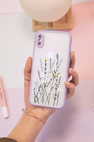 Iphone Xs Max Lila Hux Soft Lavenders Tasarımlı Telefon Kılıfı