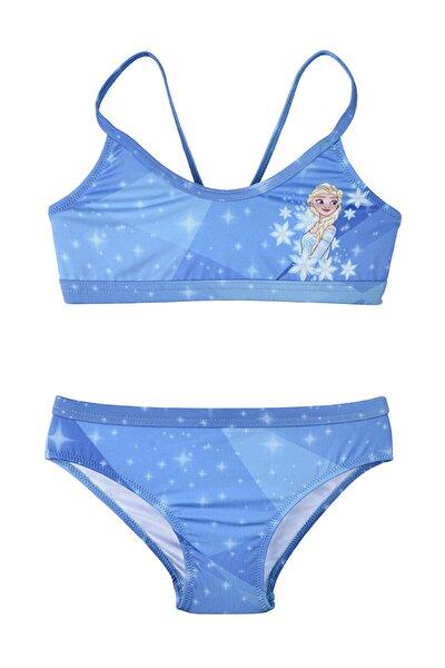 Disney Frozen Kız Çocuk Mavi Bikini Takımı