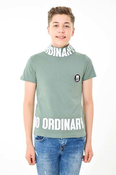 Erkek Çocuk Yazı Baskılı Tişört 9-15 Yaş Mrns-mb2721