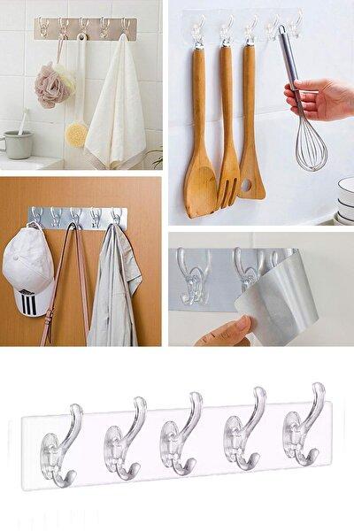 Şeffaf Banyo Ve Mutfak Askısı 5 li