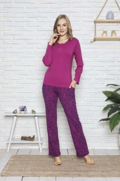 Kadın Modal Uzun Kollu Pijama Takımı