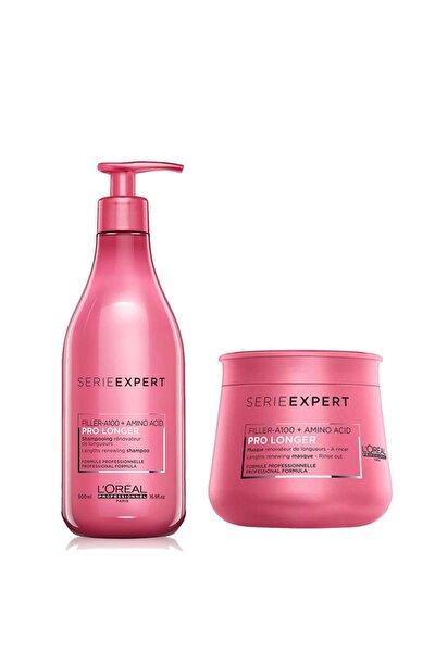 Loreal Pro Longer Saç Boyu Şampuan 500ml+ Maske 250ml