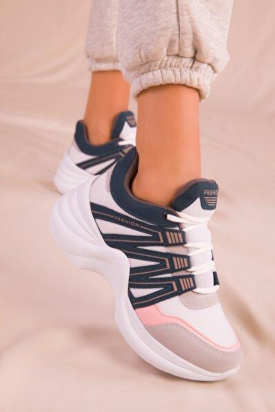 Buz-Beyaz-Petrol Kadın Sneaker 15984