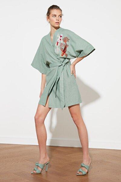 Mint Nakış Detaylı Kimono&Kaftan TWOSS21KM0001