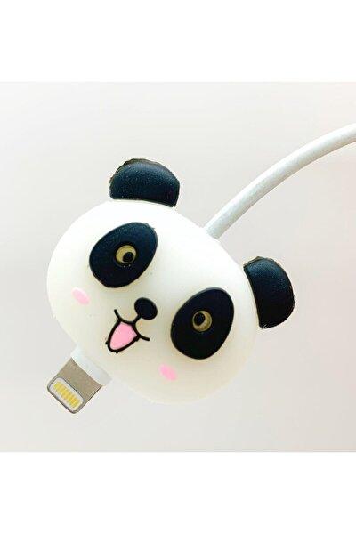 Sevimli Panda Desenli Kablo Koruyucu - Tüm Modellere Uygun