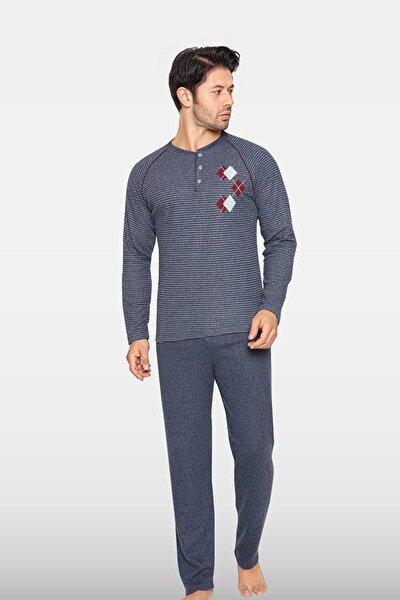 Erkek Gri Pijama Takımı