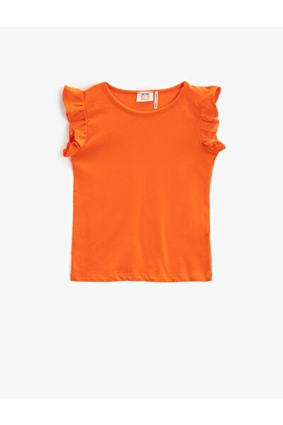 Kız Çocuk Turuncu Basic Tisört