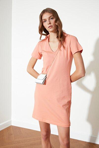Somon Yakalı Örme Elbise TWOSS21EL0503